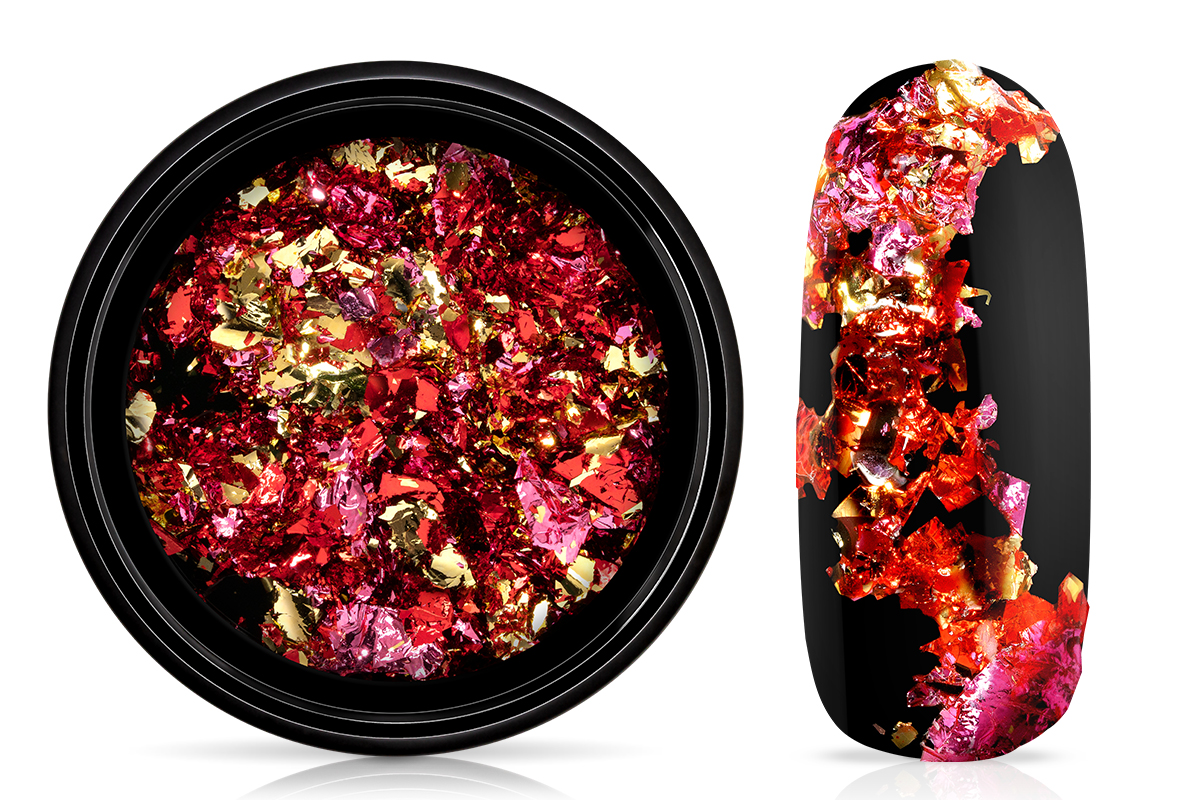 Jolifin Soft Foil Flakes - red & pink & champagne