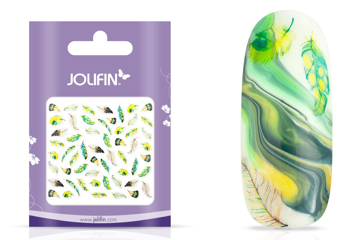 Jolifin Nailart Tattoo Aquarell Federn mint