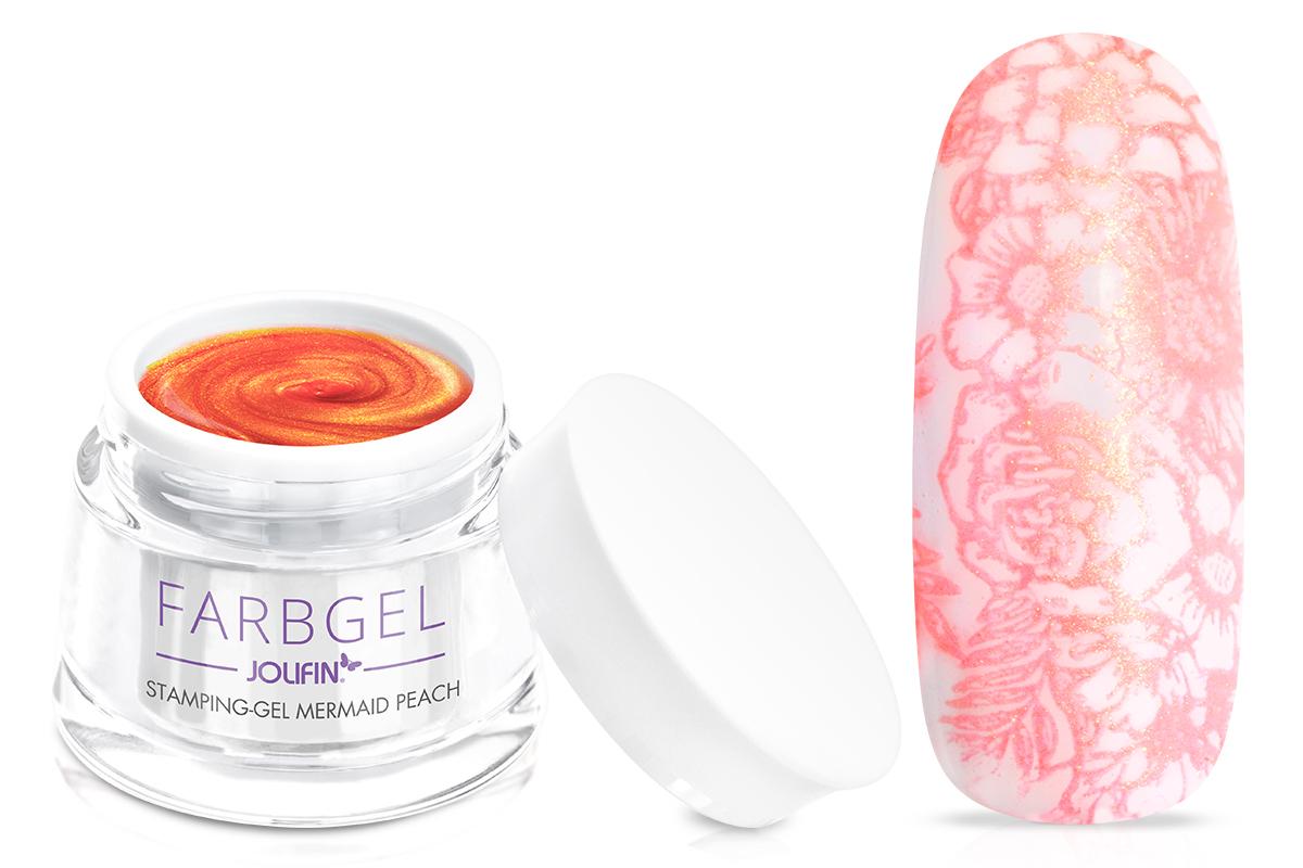 Jolifin Stamping-Gel - mermaid peach 5ml