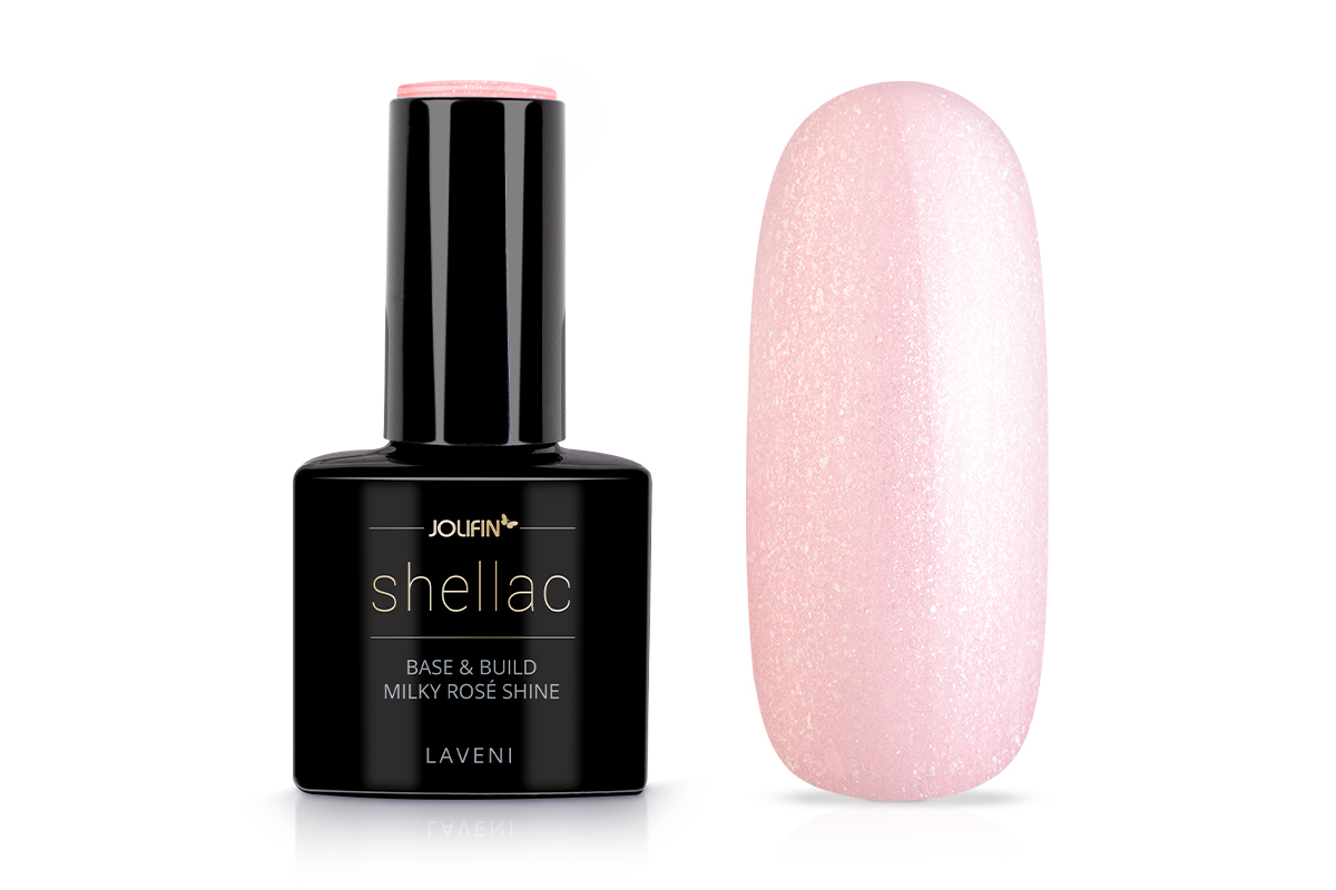 Jolifin LAVENI Shellac - Base & Build milky-rosé shine 12ml