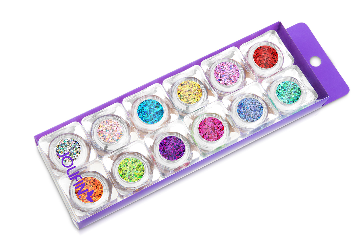 Nailart Set Glitter Pailletten klein