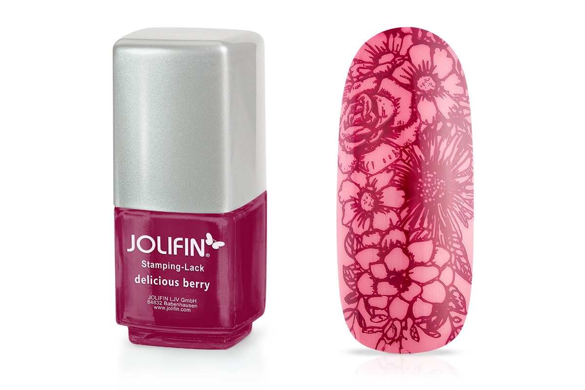 Jolifin Stamping-Lack - delicious berry 12ml