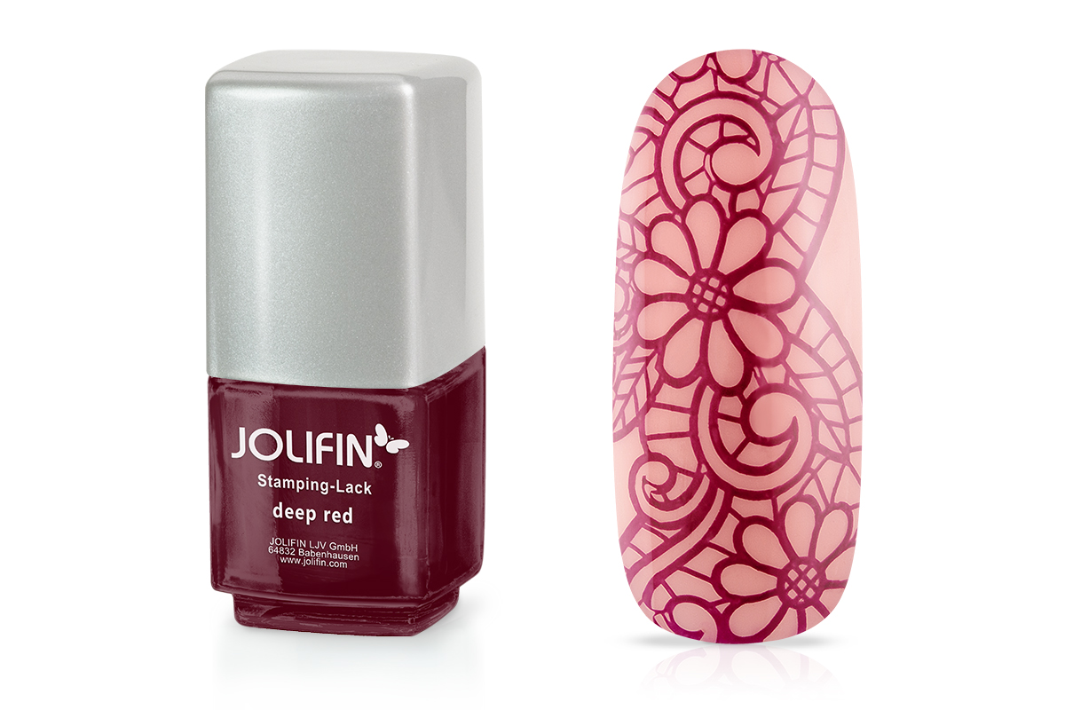 Jolifin Stamping-Lack - deep red 12ml