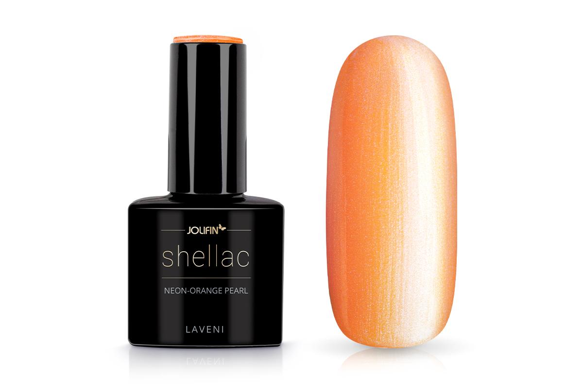 Jolifin LAVENI Shellac - neon-orange pearl 12ml