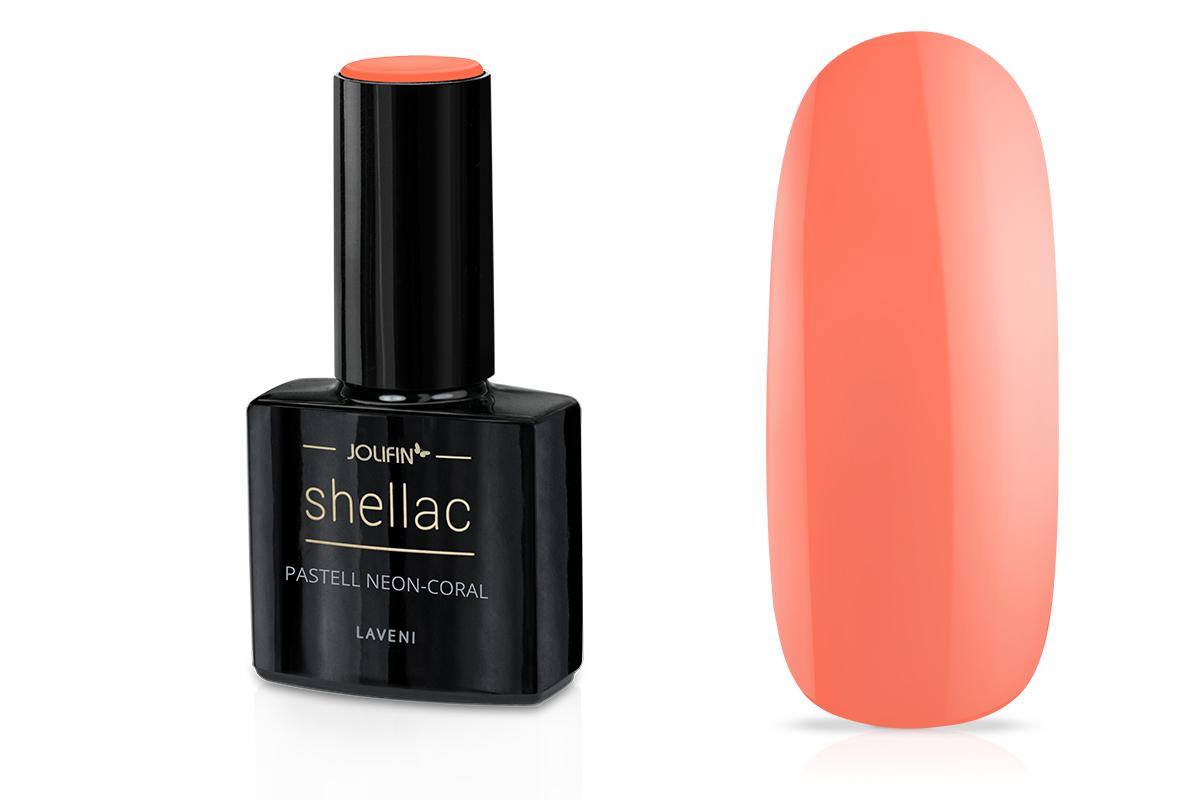 Jolifin LAVENI Shellac - pastell neon-coral 12ml