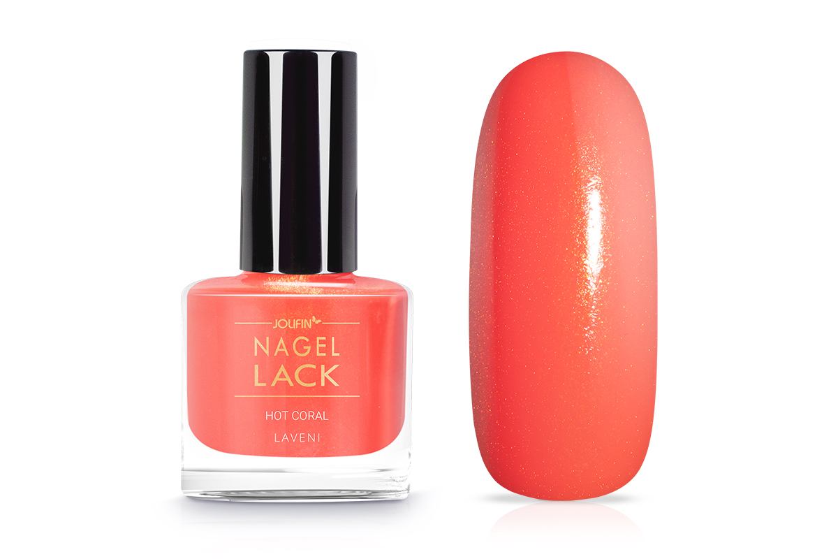 Jolifin LAVENI Nagellack - hot coral 9ml