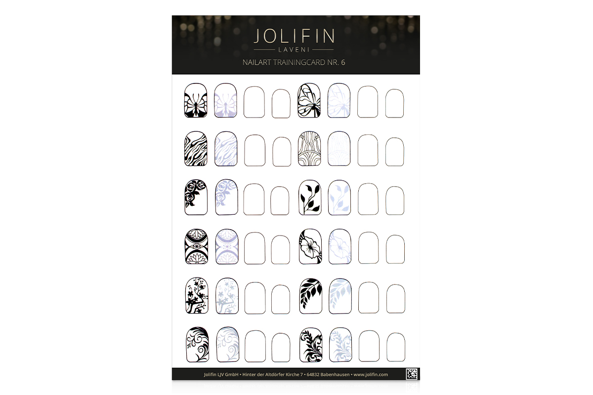 Jolifin LAVENI Nailart Trainingcard Nr. 6