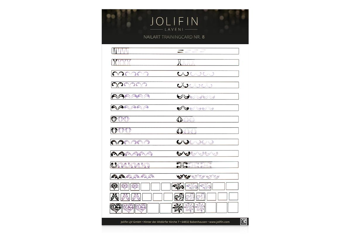 Jolifin LAVENI Nailart Trainingcard Nr. 8