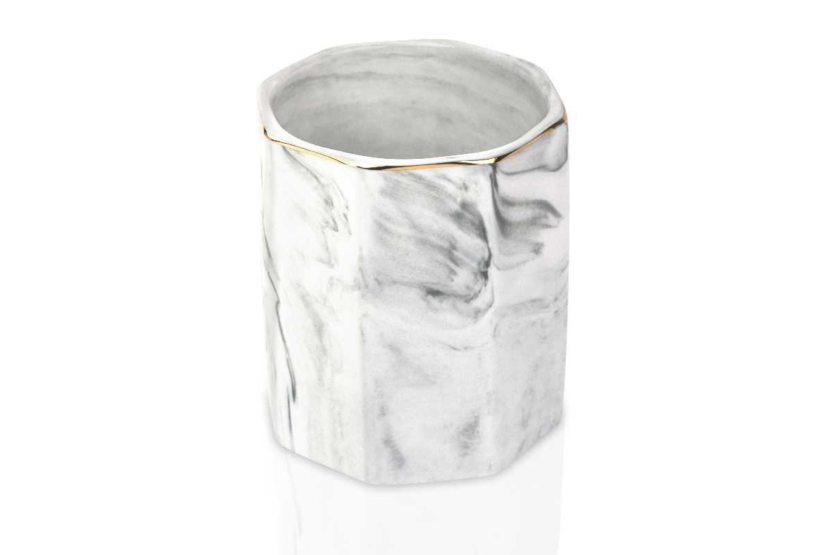 Jolifin LAVENI PRO - Keramik Pinselhalter weiß