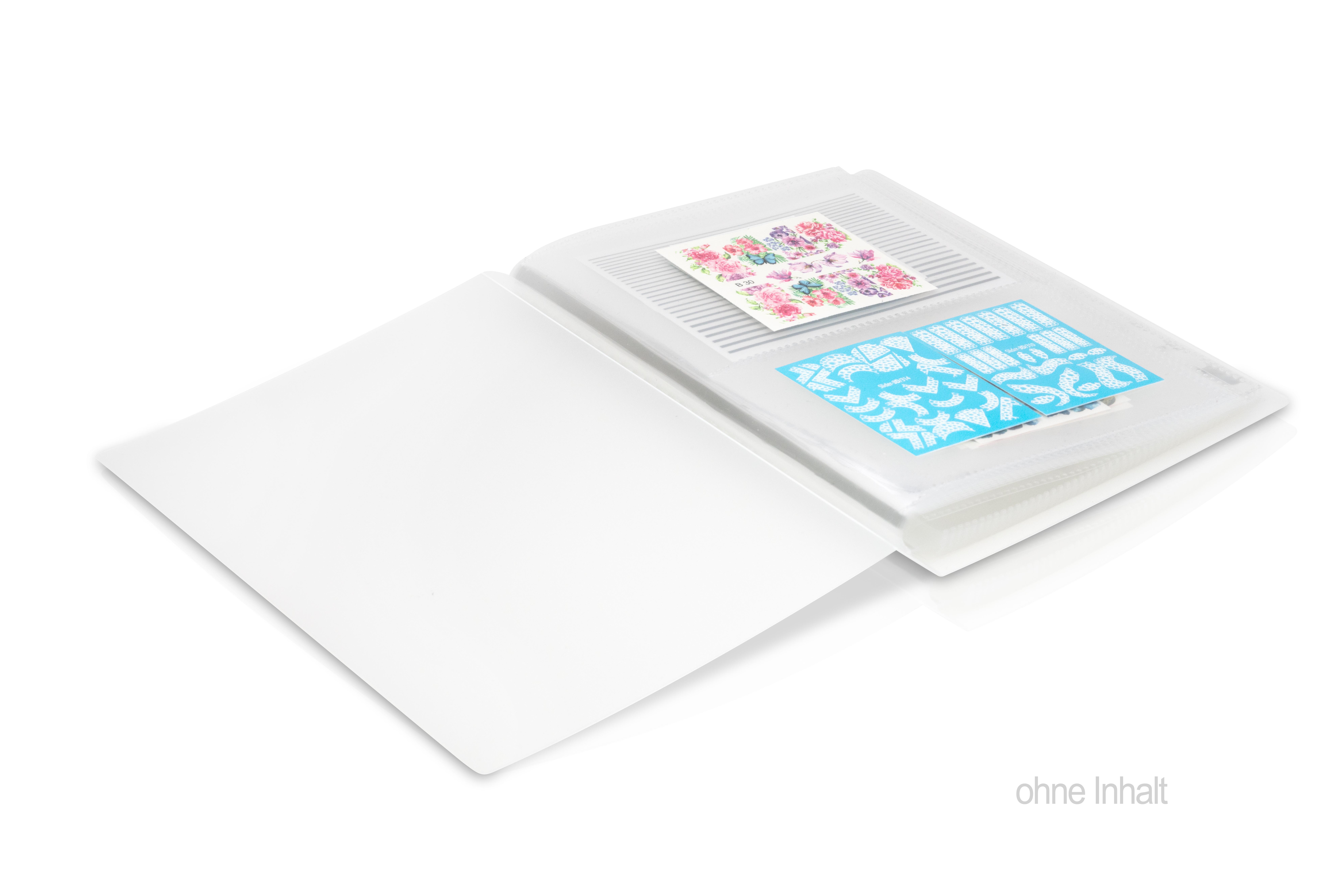 Jolifin Aufbewahrung für Sticker & Tattoos - 80 Einschübe