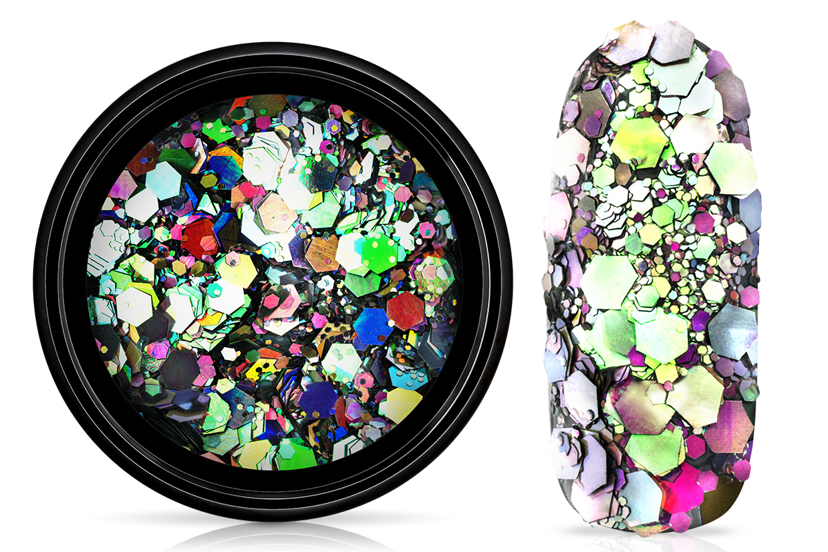 Jolifin LAVENI Chameleon Glittermix - galaxy silver