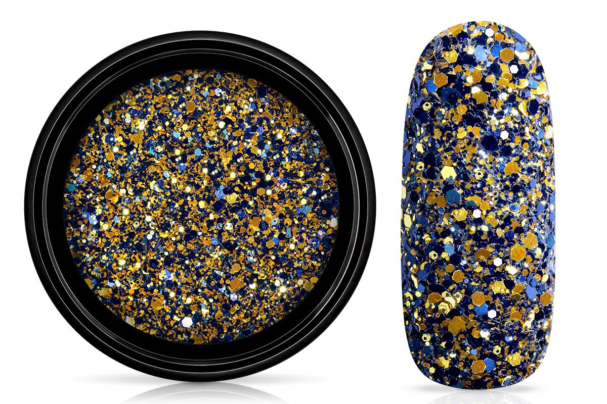 Jolifin LAVENI Luxury Glitter - blue-champagne