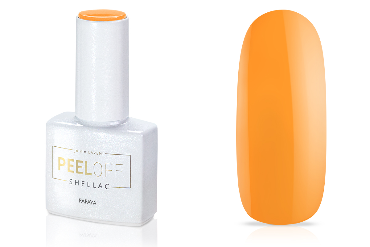 Jolifin LAVENI Shellac PeelOff - papaya 12ml