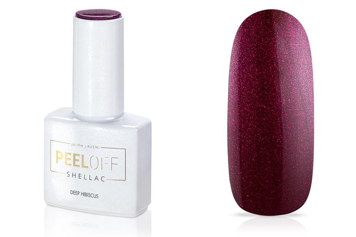 Jolifin LAVENI Shellac PeelOff - deep hibiscus 12ml