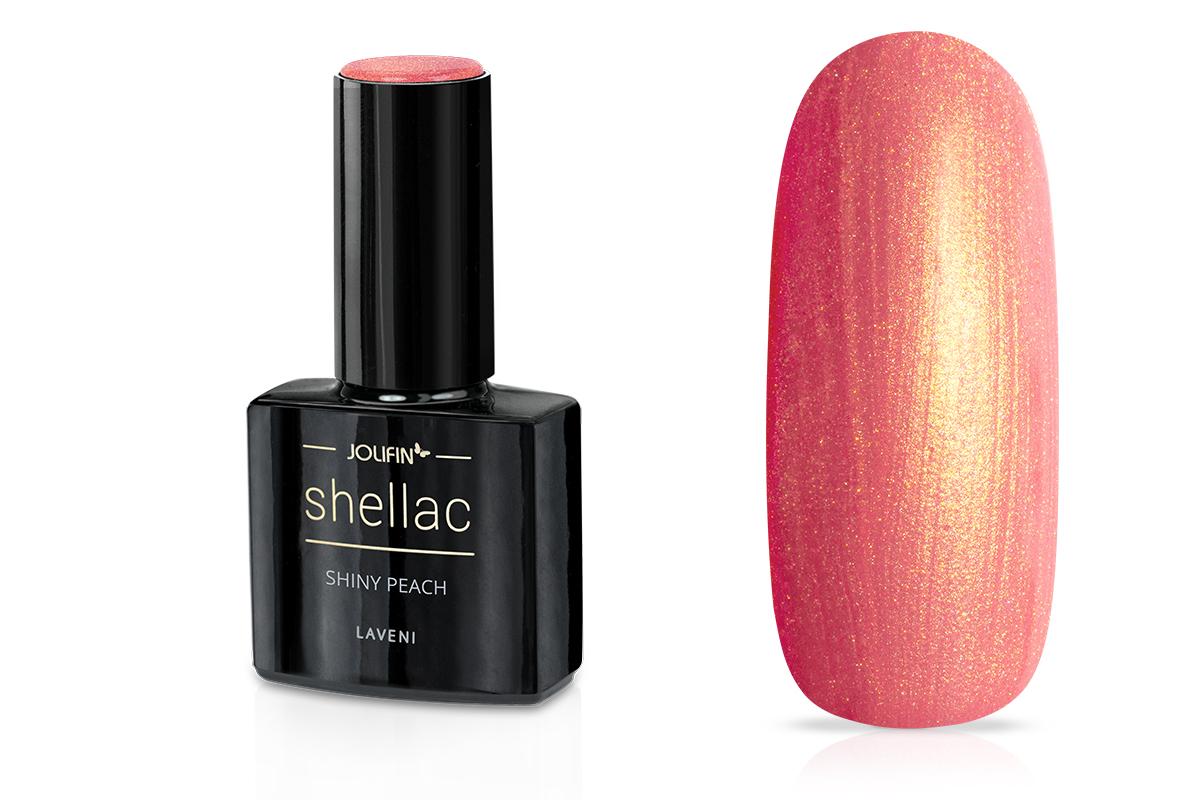 Jolifin LAVENI Shellac - shiny peach 12ml