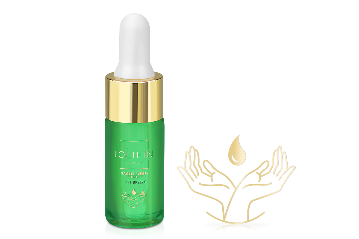 Jolifin LAVENI Nagelpflege-Gel - soft breeze 10ml