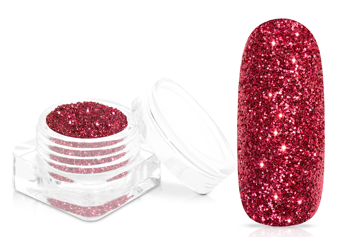 Jolifin Glitterpuder - classic red