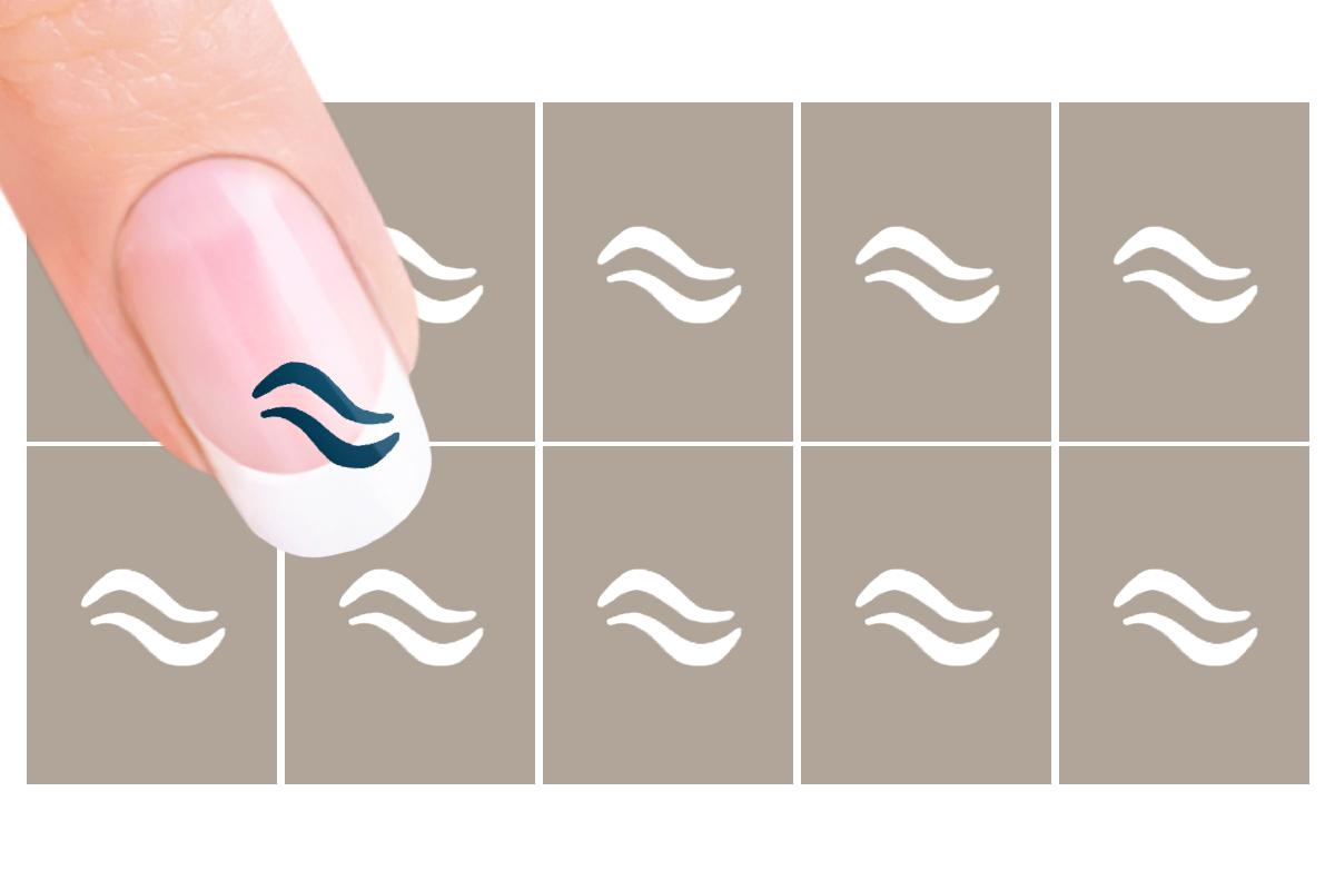 Nail-Art Schablone Nr. 7 Wellen