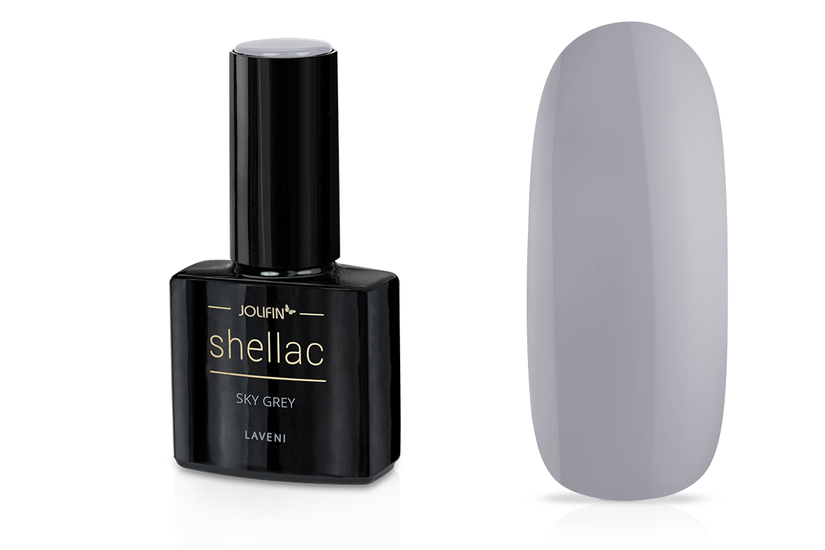 Jolifin LAVENI Shellac - sky grey 12ml