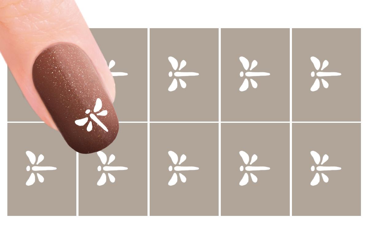 Nail-Art Schablone  Nr. 9 Libelle