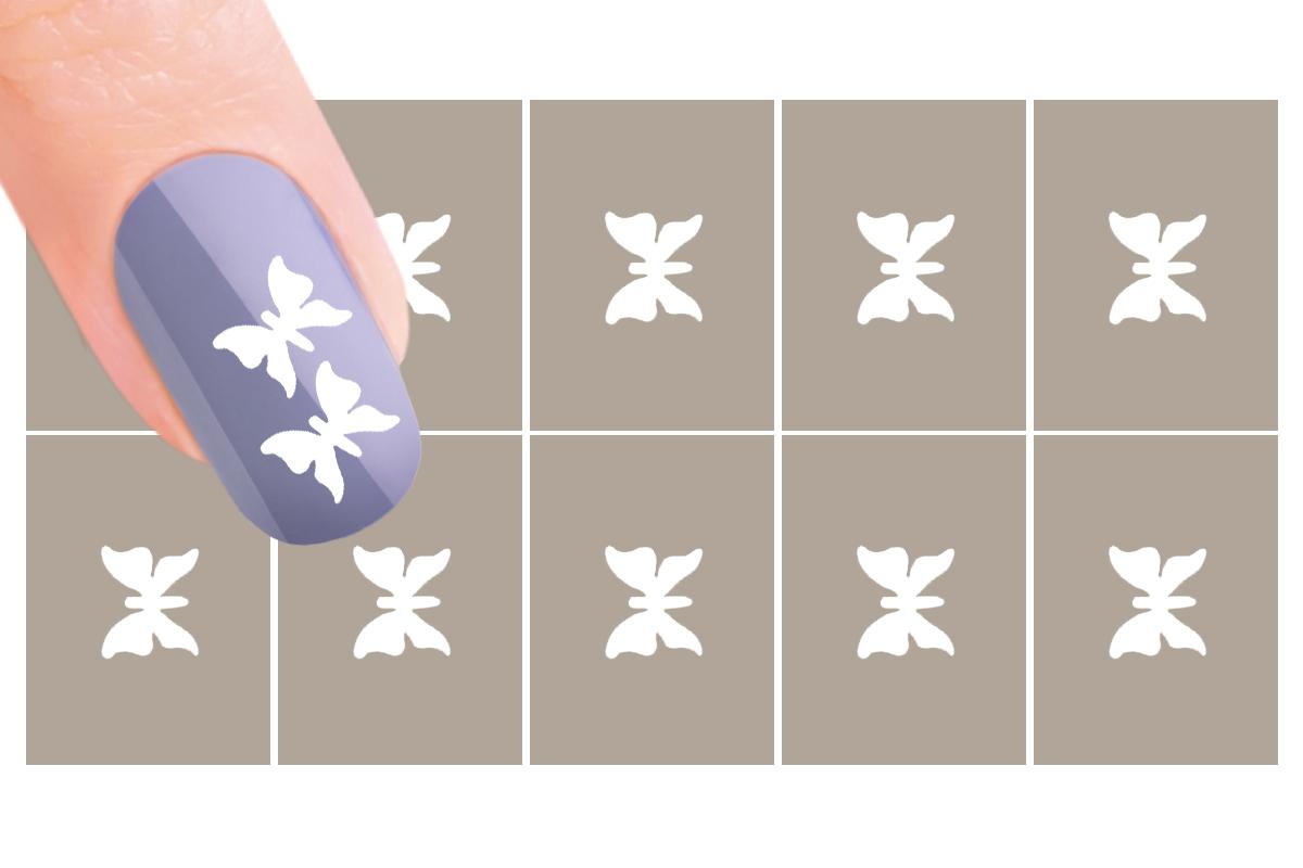 Nail-Art Schablone Nr.12 Schmetterling
