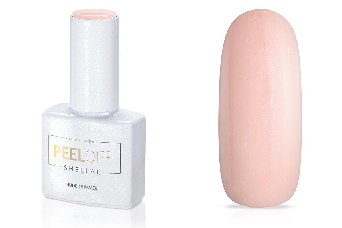 Jolifin LAVENI Shellac PeelOff - nude glimmer 12ml