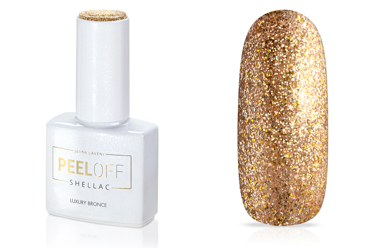 Jolifin LAVENI Shellac PeelOff - luxury bronce 12ml