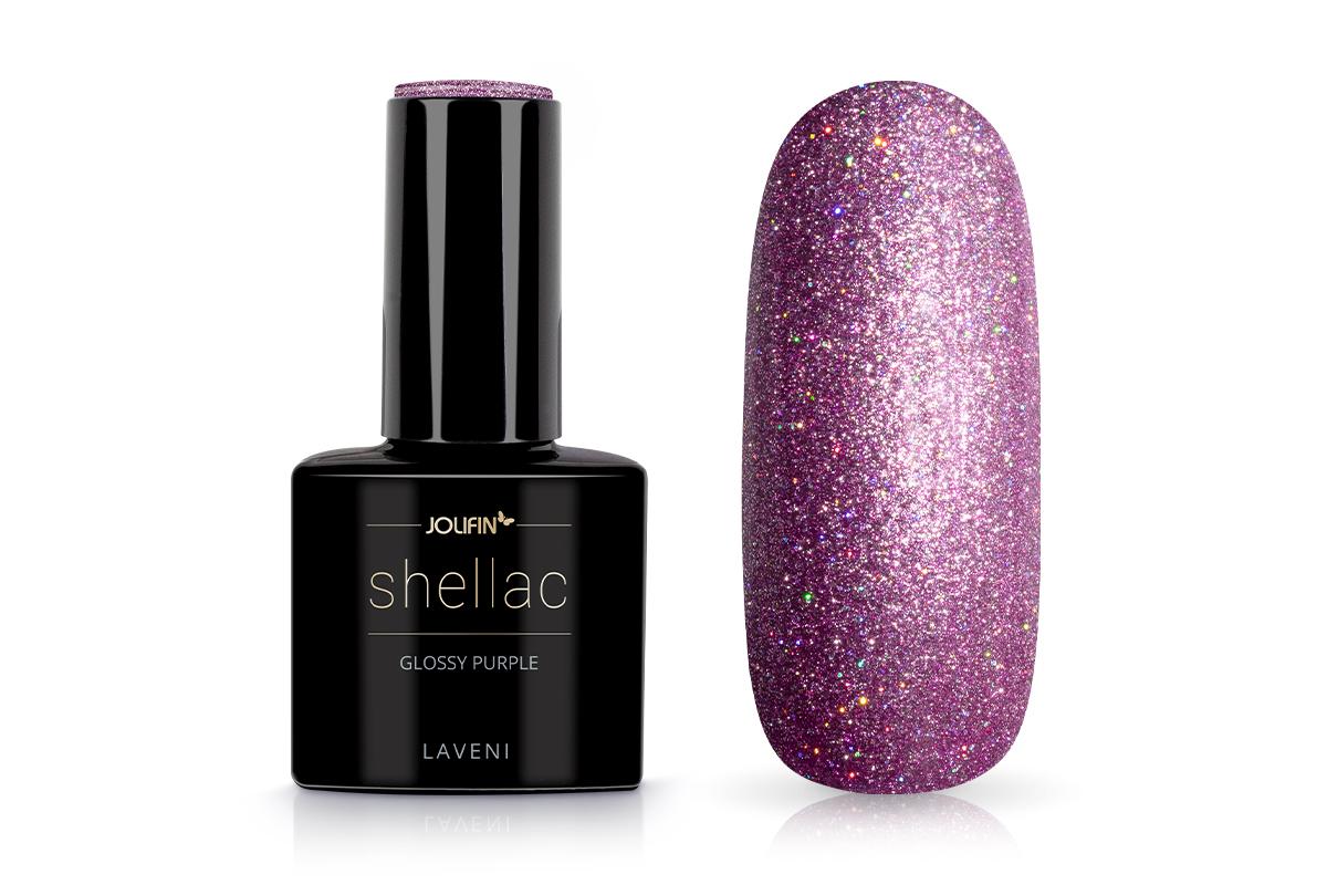 Jolifin LAVENI Shellac - glossy purple 12ml