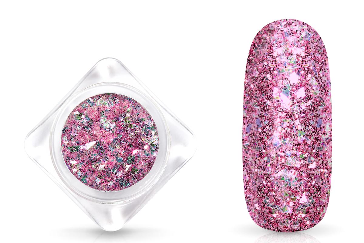 Jolifin Glittermix Flakes - pink-rosy