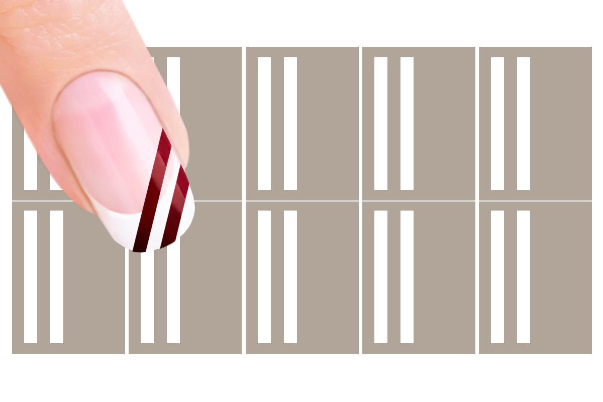 NailArt Schablone Nr18 Streifen  Pretty Nail Shop 24