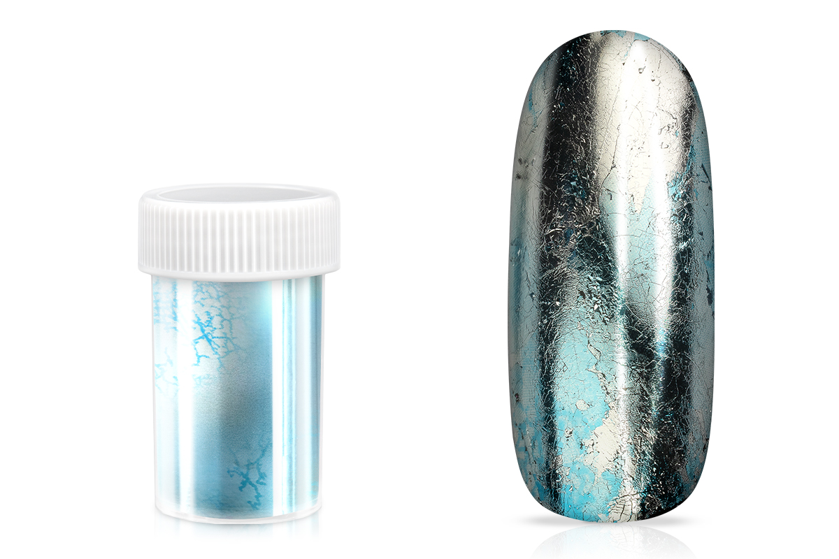 Jolifin Transfer Nagelfolie XL - Chrome blue ice