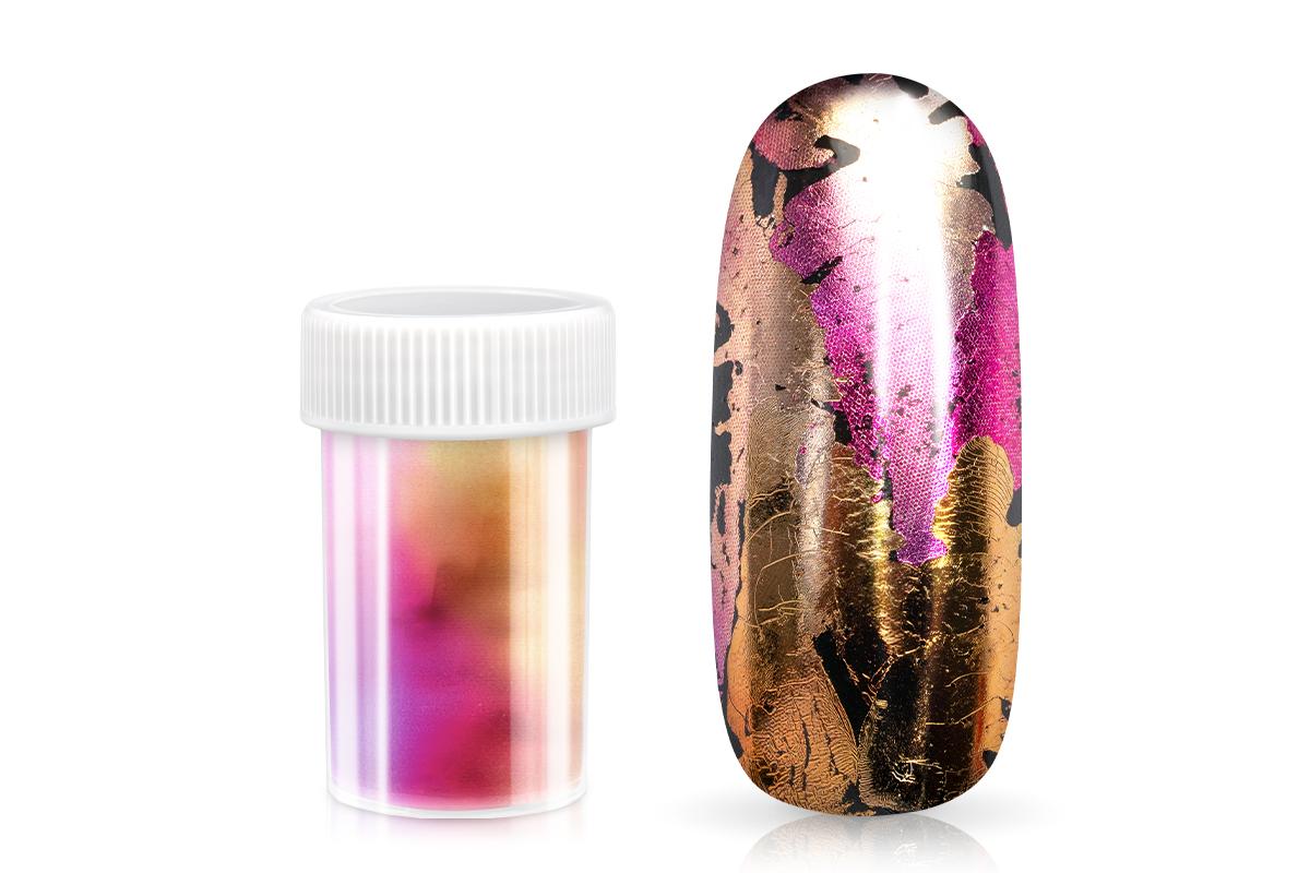 Jolifin Transfer Nagelfolie XL - Chrome pink-champagne mix