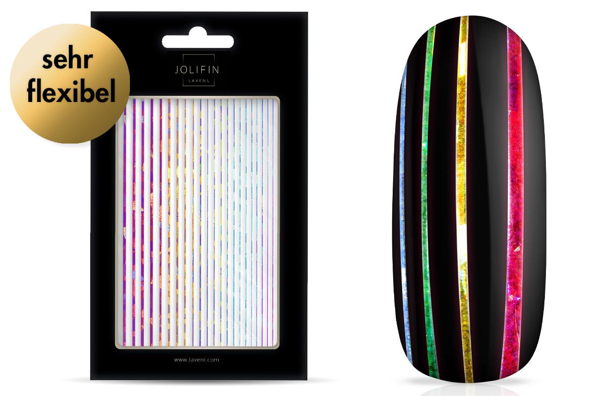 Jolifin LAVENI XL Sticker - Stripes rainbow