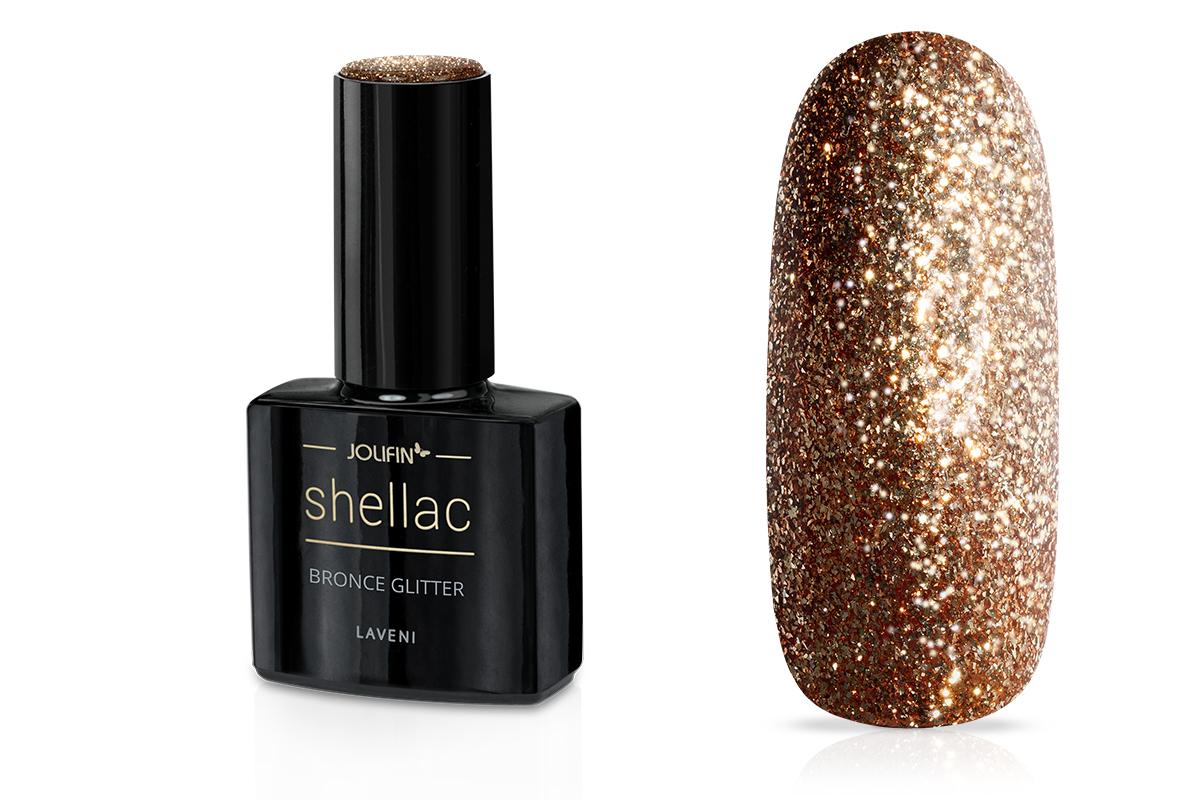 Jolifin LAVENI Shellac - bronce Glitter 12ml