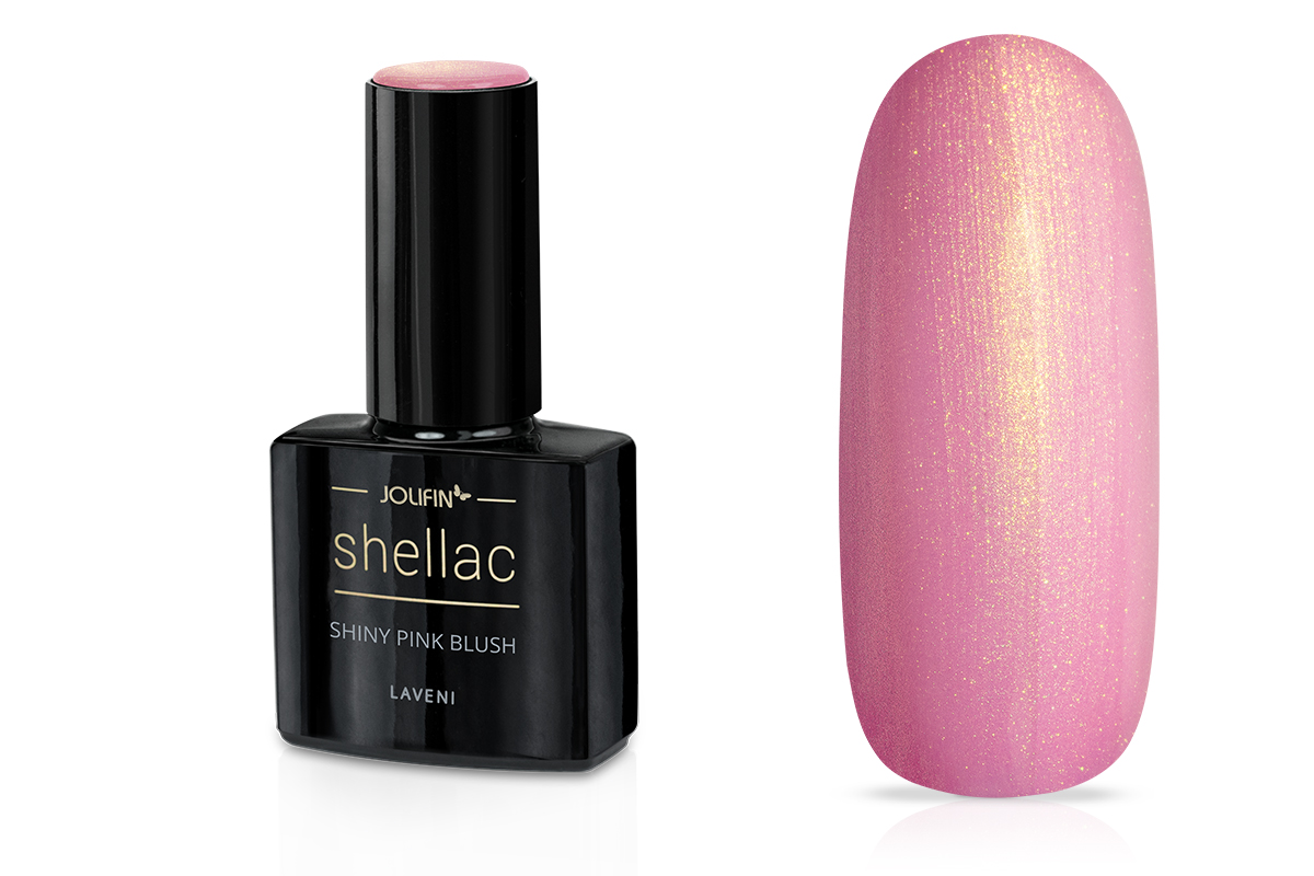 Jolifin LAVENI Shellac - shiny pink blush 12ml