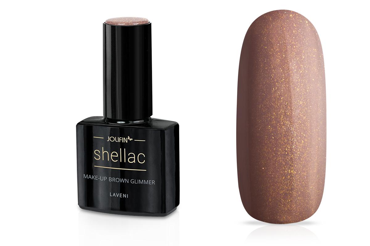 Jolifin LAVENI Shellac - make-up brown Glimmer 12ml