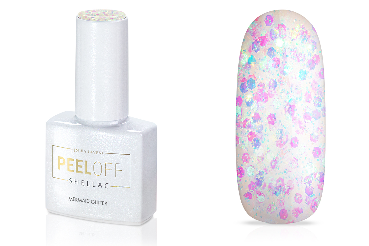 Jolifin LAVENI Shellac PeelOff - mermaid Glitter 12ml