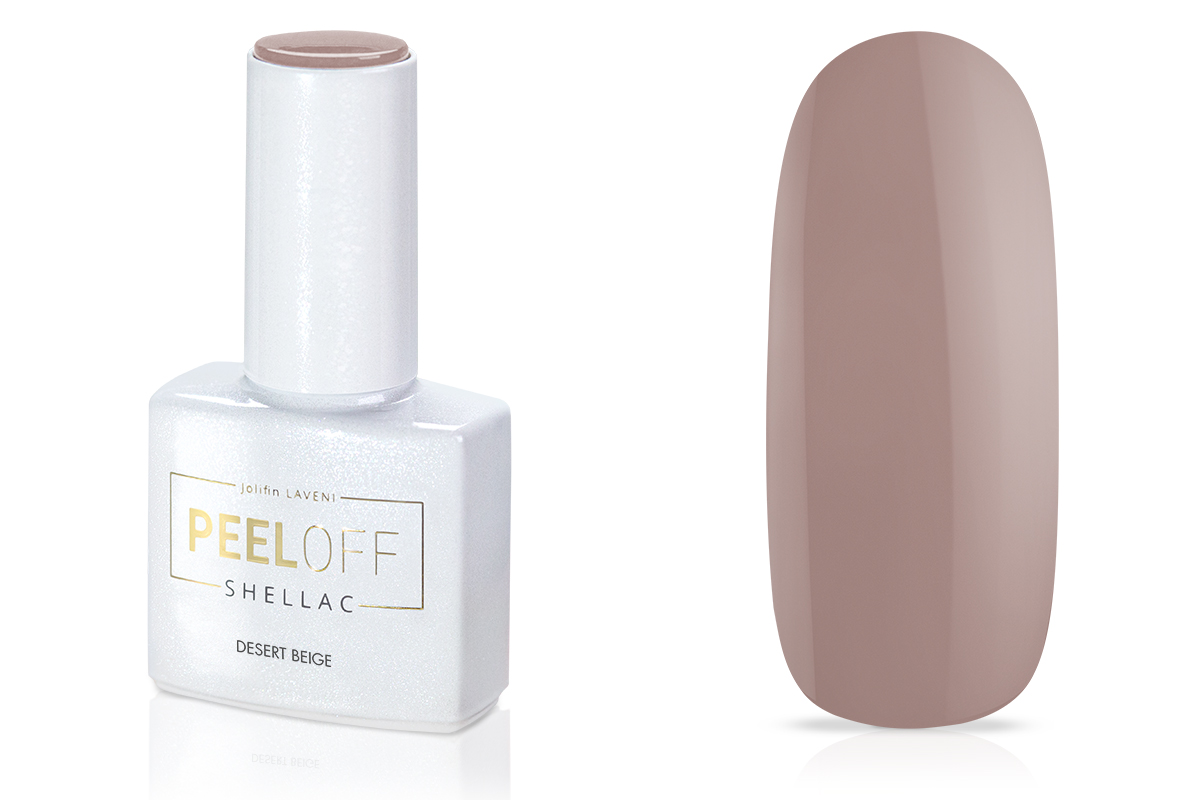 Jolifin LAVENI Shellac PeelOff - desert beige 12ml