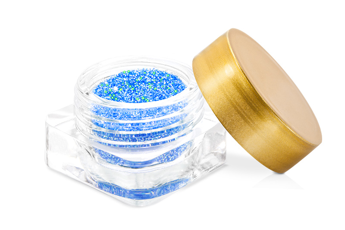 Neon Revolution glitter-blau