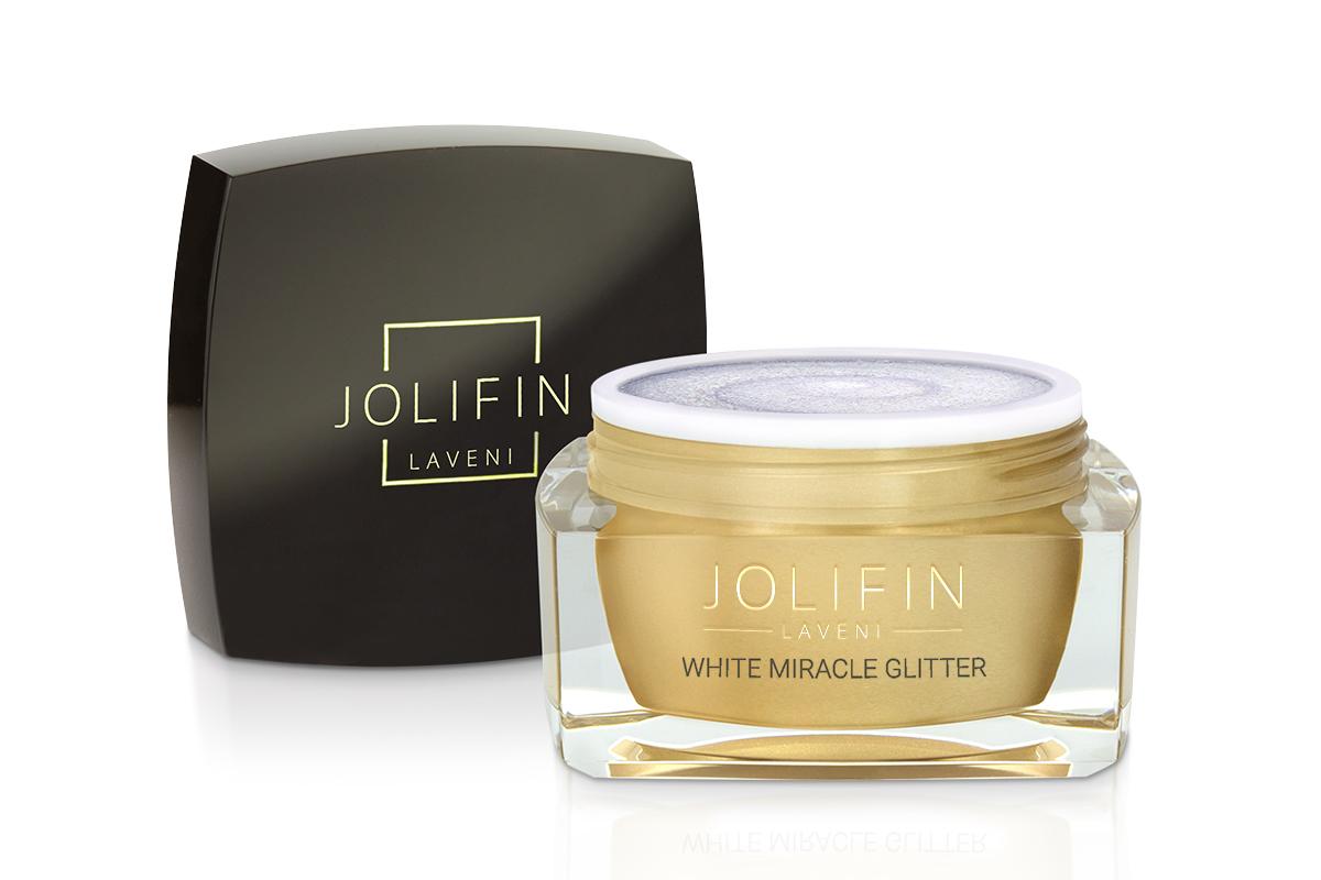 Jolifin LAVENI Farbgel - white miracle Glitter 5ml