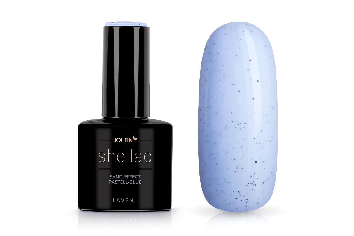 Jolifin LAVENI Shellac - sand-effect pastell-blue 12ml