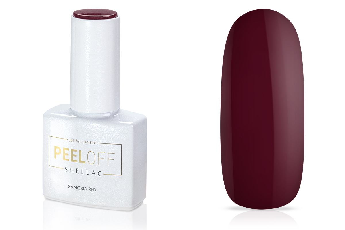 Jolifin LAVENI Shellac PeelOff - sangria red 12ml