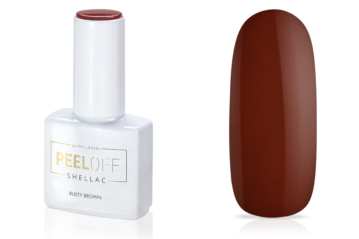 Jolifin LAVENI Shellac PeelOff - rusty brown 12ml