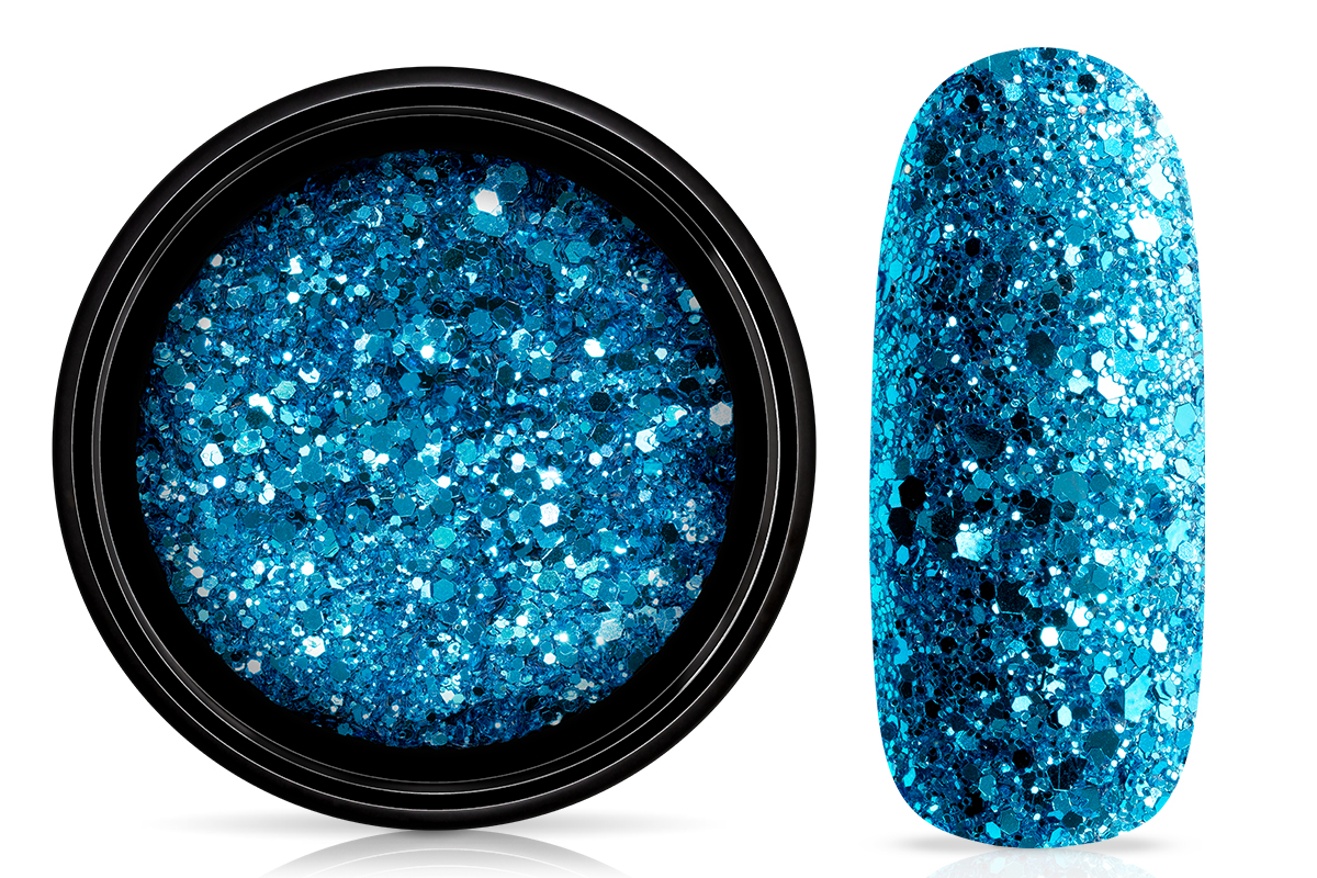 Jolifin LAVENI Sparkle Glitter - blue turquoise