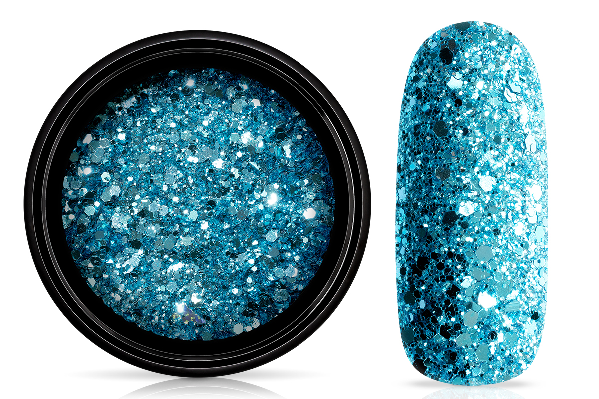 Jolifin LAVENI Sparkle Glitter - caribbean turquoise