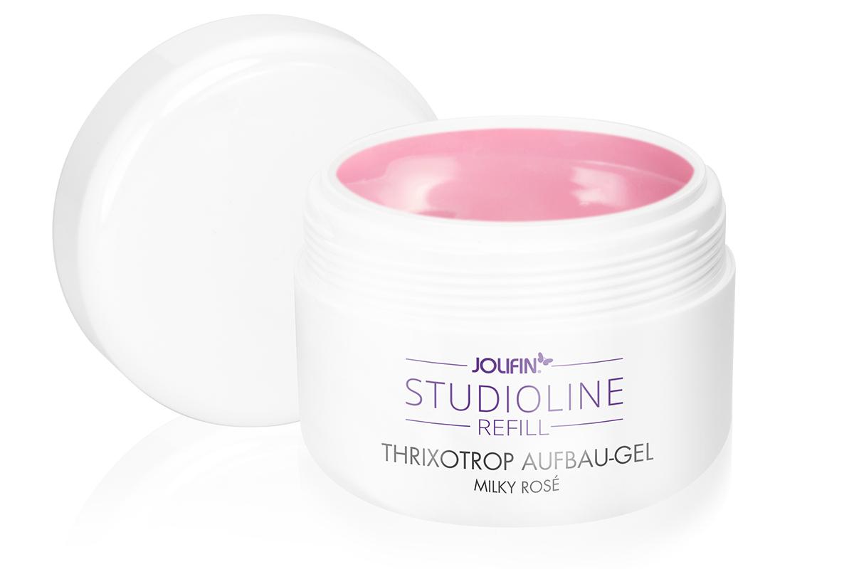 Jolifin Studioline Refill - Thixotrop Aufbau-Gel milky rosé 250ml