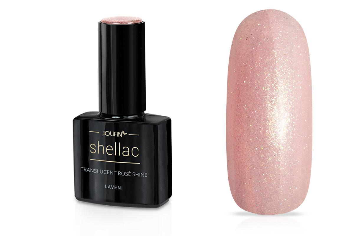 Jolifin LAVENI Shellac - translucent rosé shine 12ml