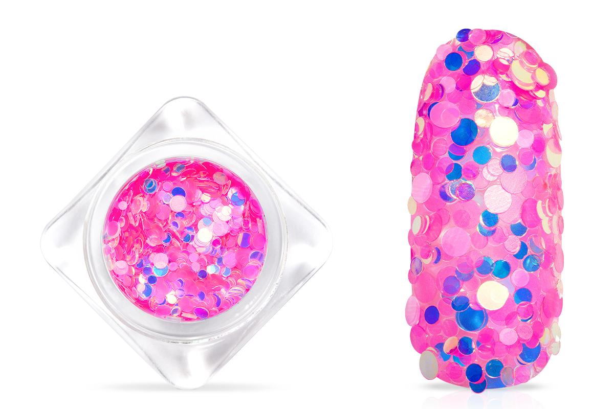 Jolifin Pailletten Mix - neon-pink