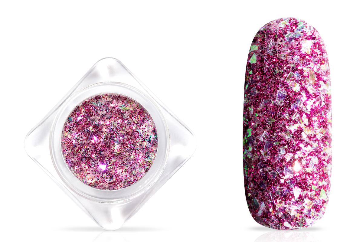 Jolifin Glittermix Flakes - violet-rosy