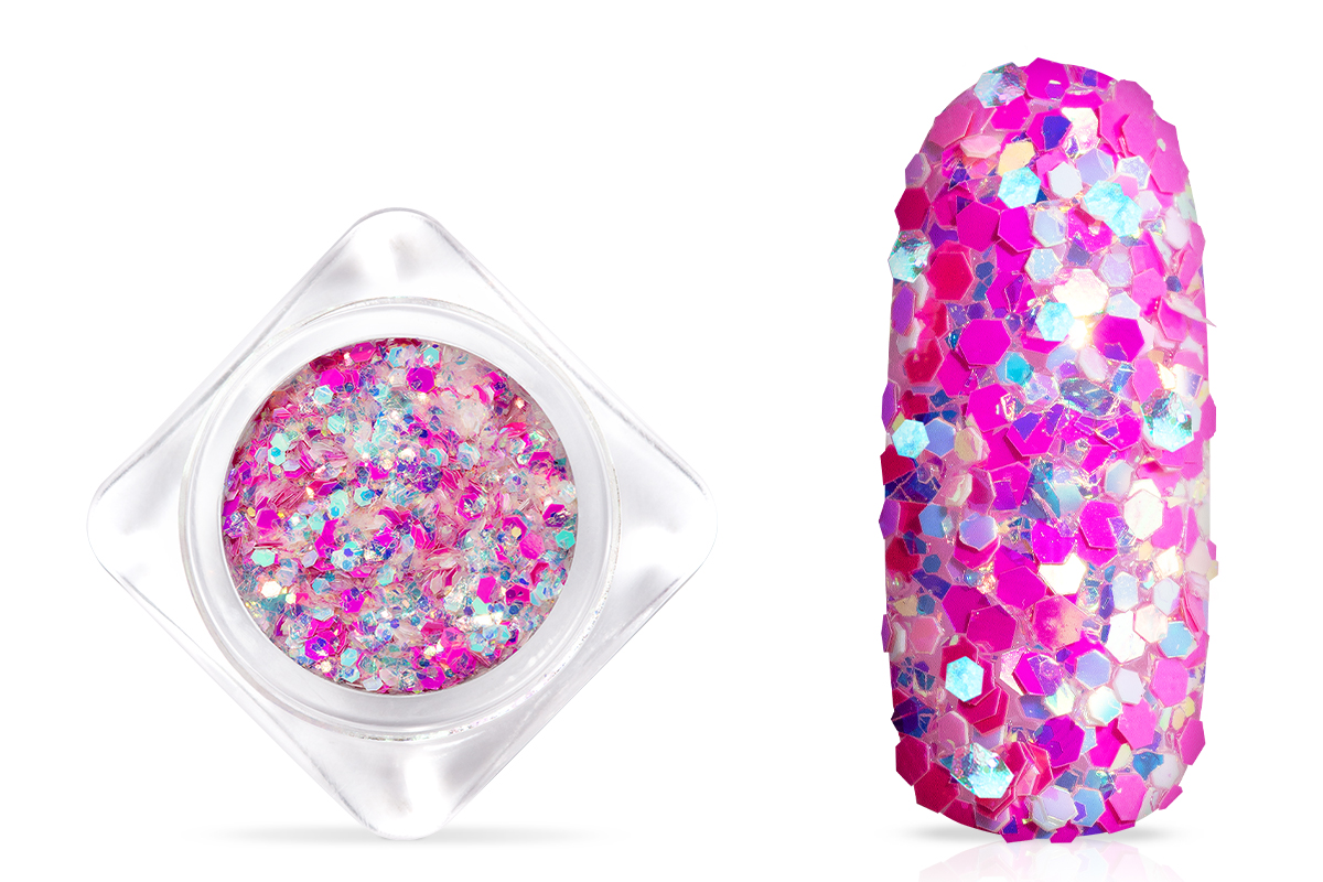 Jolifin Candy Glitter - hot magenta